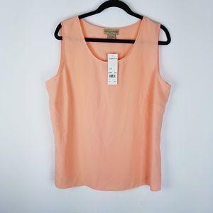 Notations women NWT peach sleeveless tank top 1x
